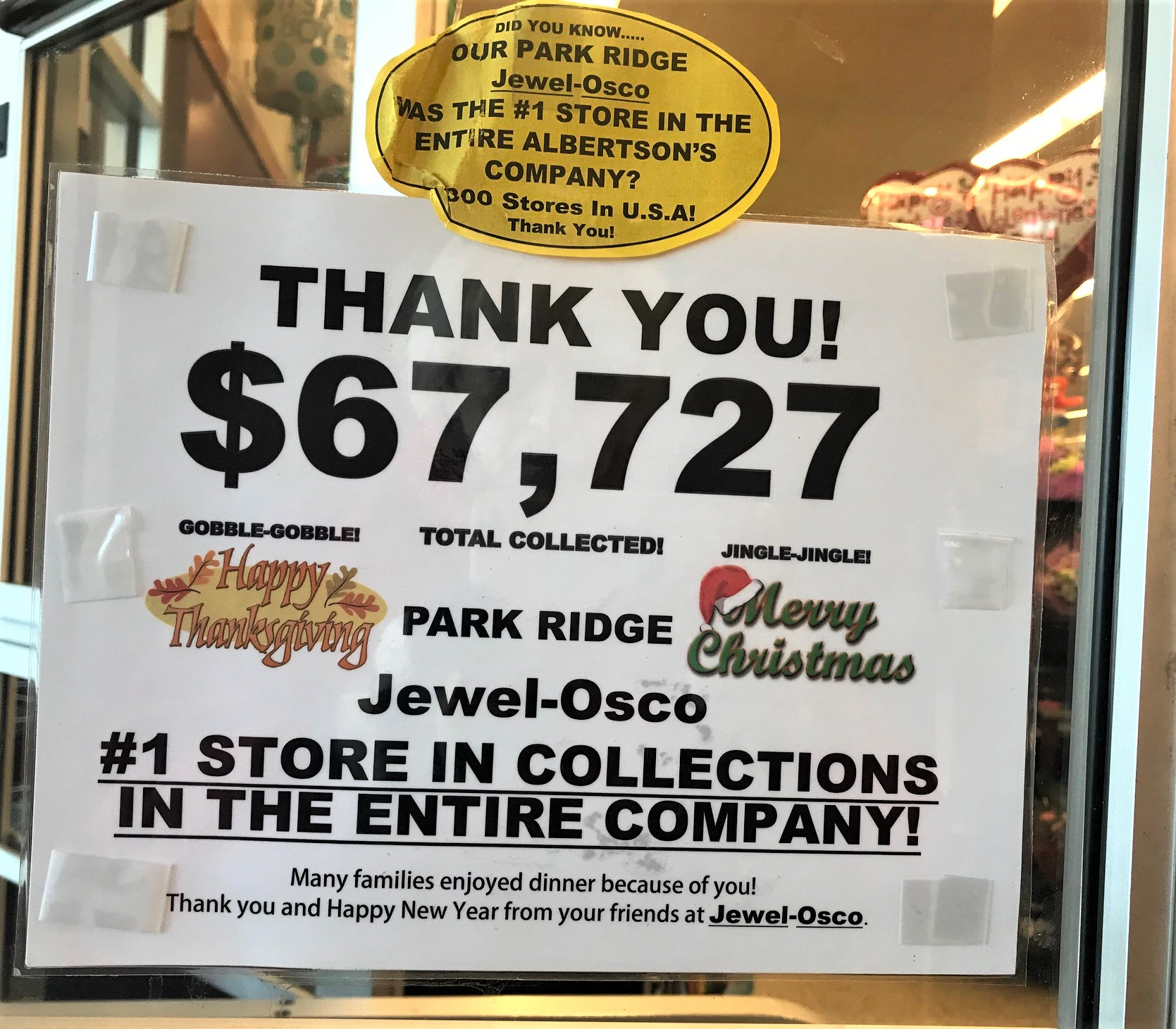Park Ridge Jewel Food Drive Tops Corporate Collections In 2017 ...