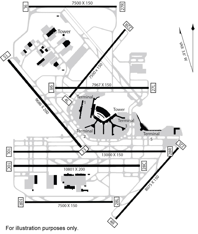 Airport Runway Maps Diagonal Runway 15 33 To Close March 29 At O'Hare | Journal