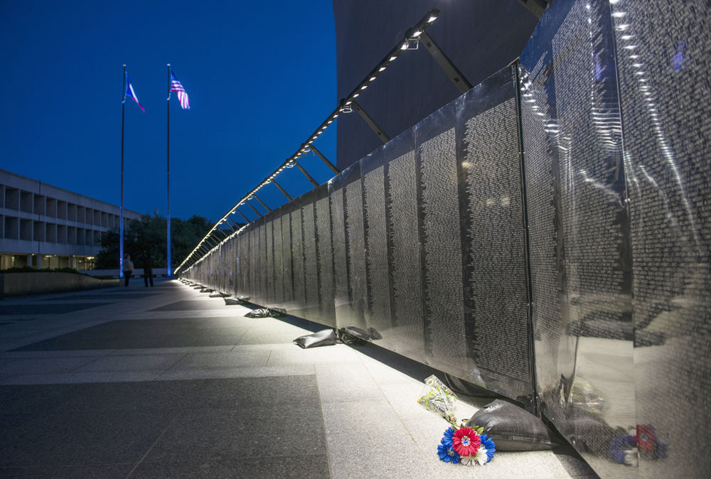 Wall that heals journal topics media group the wall that heals as seen at the lbj presidential library in 2016 a half scale replica of the vietnam veterans memorial in washington dc aloadofball Image collections